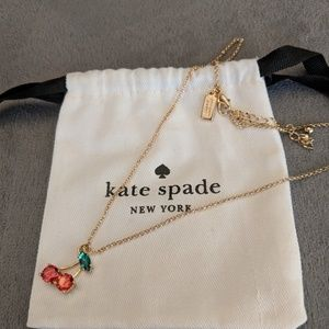 ♠️ Kate Spade 12k gold cherry 🍒 necklace*NEW
